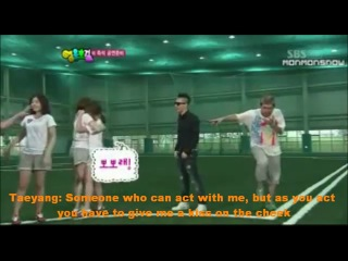 IU kisses Big Bang Taeyang (+ adorable reactions)[Eng Sub]